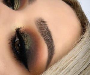 eye makeup, makeup, and eyebrows image