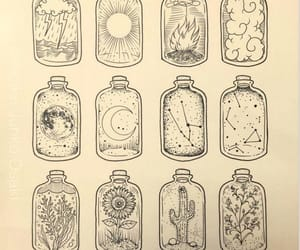 art, artwork, and jars image