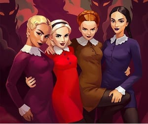 prudence, the weird sisters, and sabrina spellman image