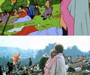 hippie, The Simpson, and tumblr image