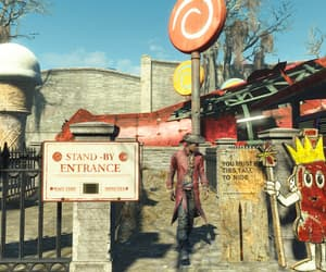 amusement park, entrance, and fallout image