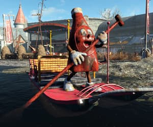 amusement park, fallout, and rowboat image