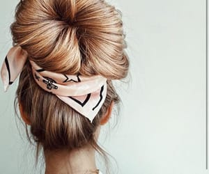 hair, fashion, and bun image