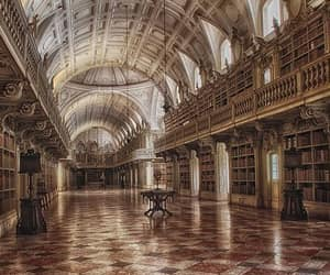aesthetic, architecture, and library image