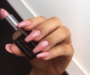 nails, makeup, and pink image