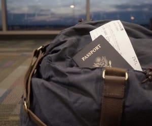 travel, passport, and airport image