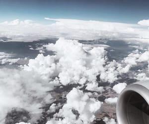 avion, ciel, and clouds image