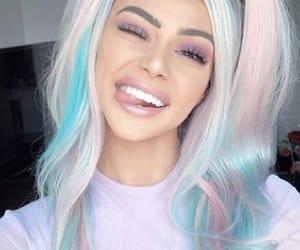 hair, makeup, and pastel image