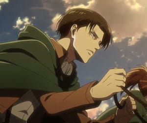 anime, hanji zoé, and levi ackerman image