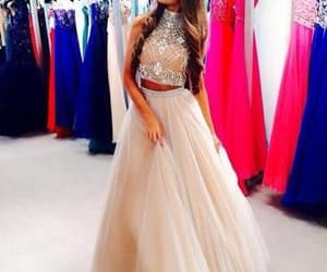 prom dresses, two pieces prom dresses, and halter prom dresses image