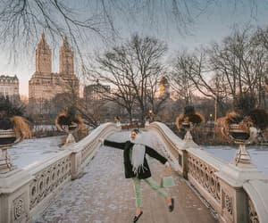 Central Park, free people, and green image