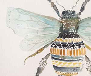 art, pretty, and bee image