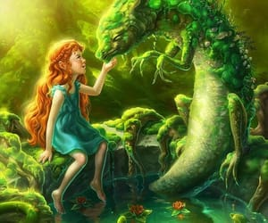 forest, illustration, and girl image