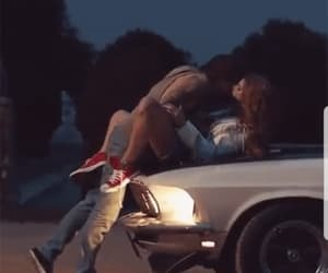 amoureux, kiss, and voiture image
