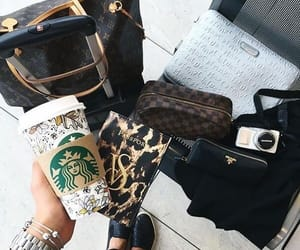 bag, accessories, and starbucks image