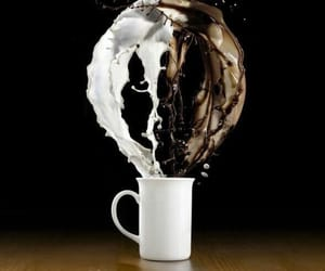 coffee, cup, and milk image