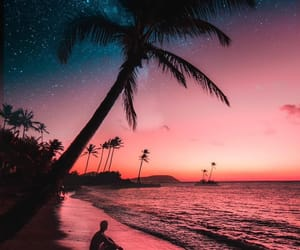 sunset, sky, and summer image