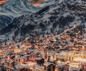 snow, winter, and switzerland image