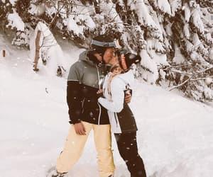 couple, holiday, and kiss image