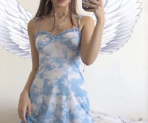 aesthetic, angel, and blue image