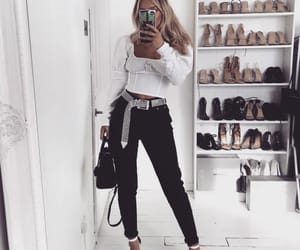 black and white, outfit goals, and outfit inspo image