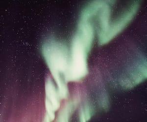 aurora, norway, and stars image