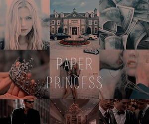 aesthetic, book, and paper princess image
