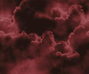 clouds and burgundy image