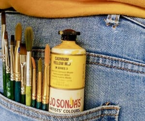 art, yellow, and paint image