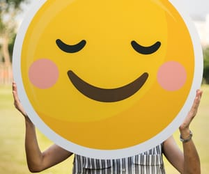 blush, smile, and emoji image