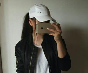 girl, nike, and iphone image