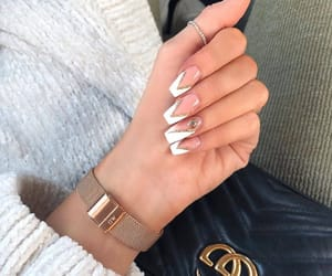 aesthetic, clock, and long nails image