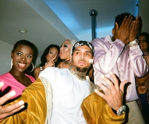 celebrities, chris brown, and party image