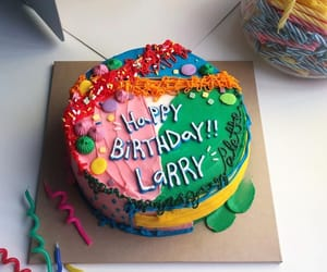 cake, happy birthday, and for larry image