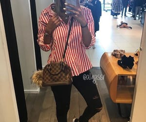 blond, chemise, and lv bag image
