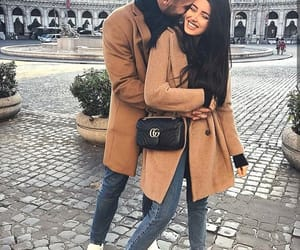 couple, kiss, and style image
