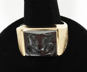 etsy, intaglio ring, and ring vintage art image