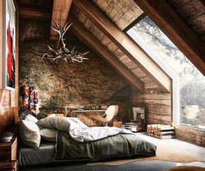 bedroom, nature, and house decor image