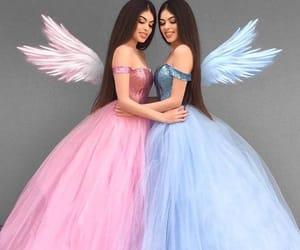 dress, pink, and angel image