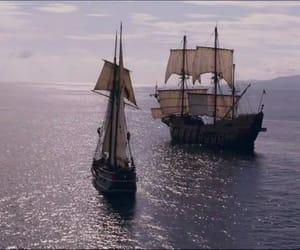 boat, sail, and sea image