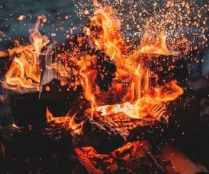 beach, fire, and illumination image