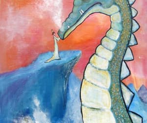 art, dragon, and etsy image
