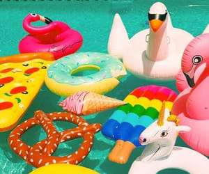 colorful, pool, and summer image