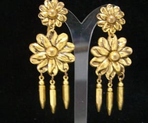 etsy, floral design, and long earrings image