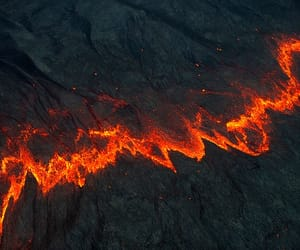 glow, lava, and nature image