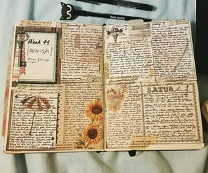 art journal, creative, and herbs image