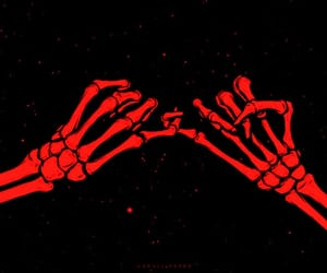 aesthetic, dark red, and lovers image