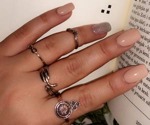 book, nails, and reading image