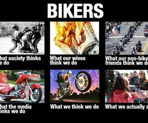 bikers, harley davidson, and motorcycle riders image