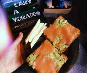 avocado, book, and toast image